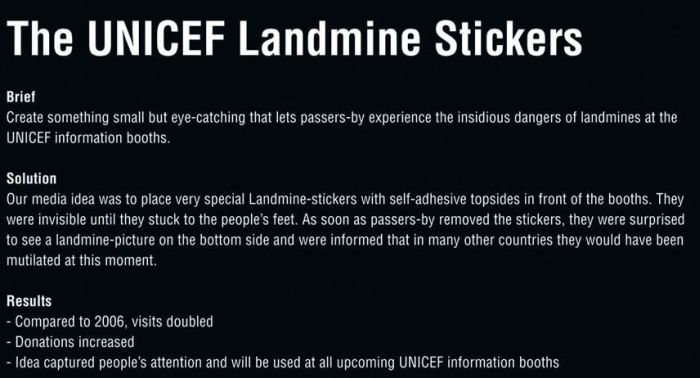 The UNICEF Landmine Stickers (8 pics)