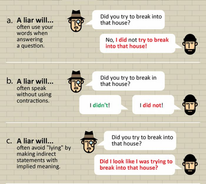 How to Spot a Liar (8 pics)