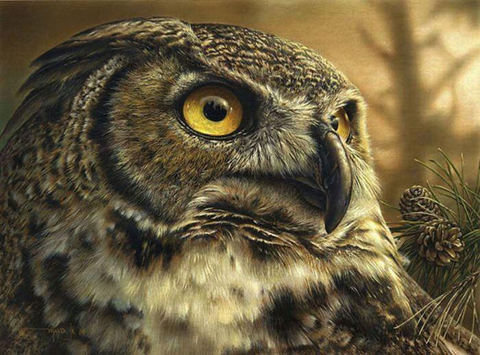 Stunning Wildlife Paintings by Denis Mayer Jr. (13 pics)