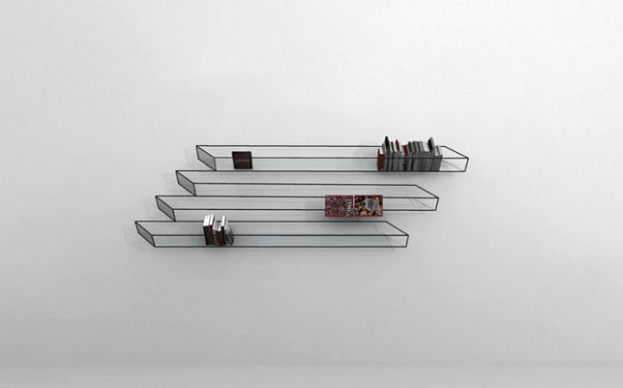 Optical Illusion Bookshelf (4 pics)