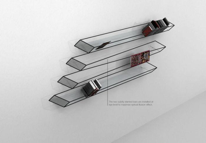 Optical Illusion Bookshelf (4 pics)