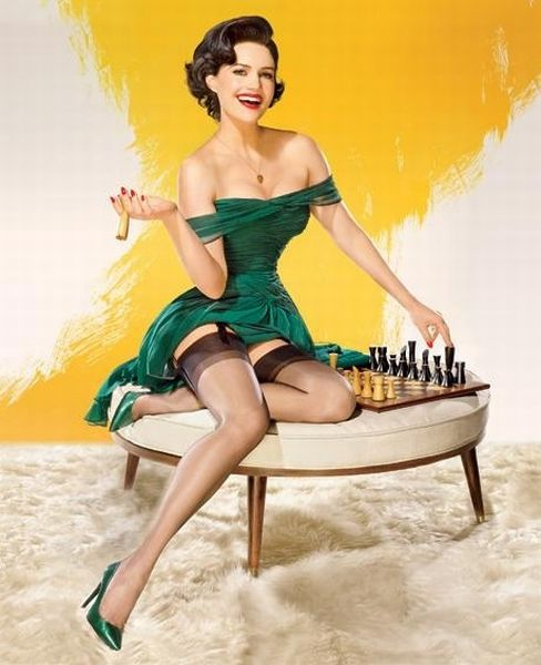 Modern Celebrities as Vintage Pin-Up Art (13 pics)
