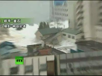 Tsunami in Japan (2 videos)