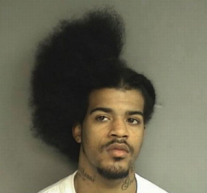 Mugshot of the Month. Man Arrested during a Haircut (1 pic)