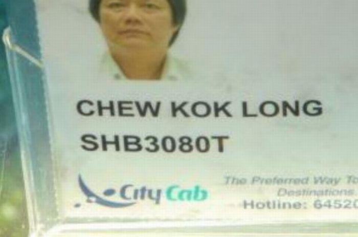 Funny Asian Names Meme : Funny taxi driver names pics