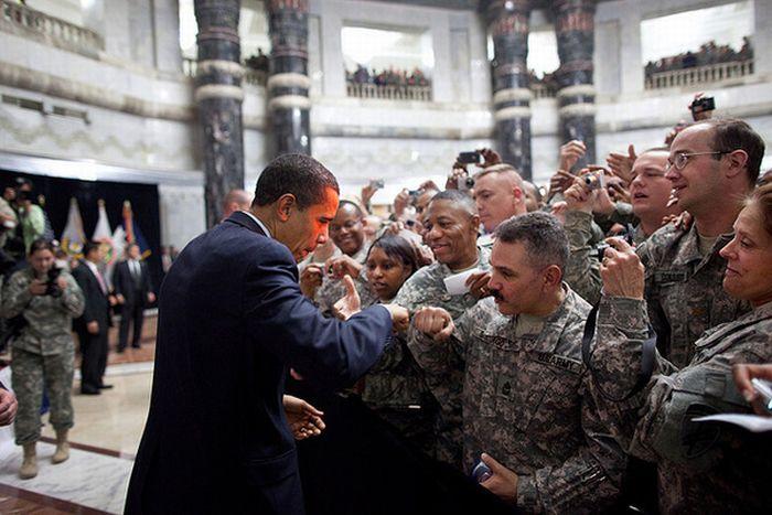 Fist-Bumping Obama (10 pics)