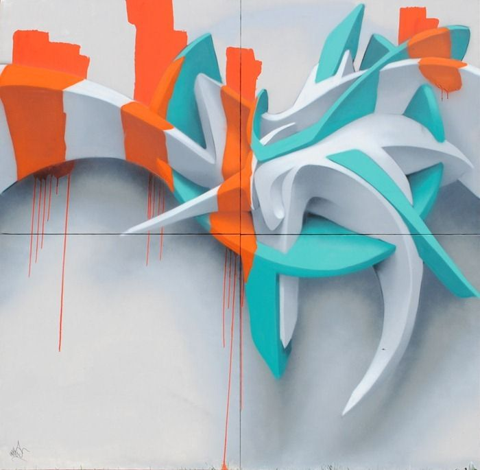 Stunning Three Dimensional Graffiti Art (8 pics)