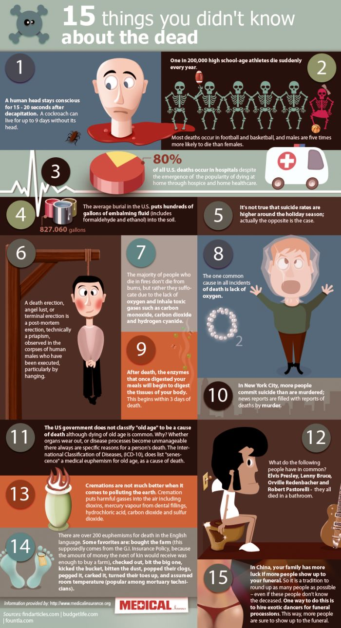 15 Things You Didn't Know About the Dead (infographic)