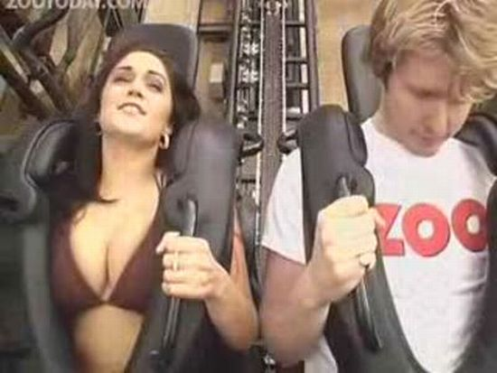 Bikini Girl on Roller Coaster