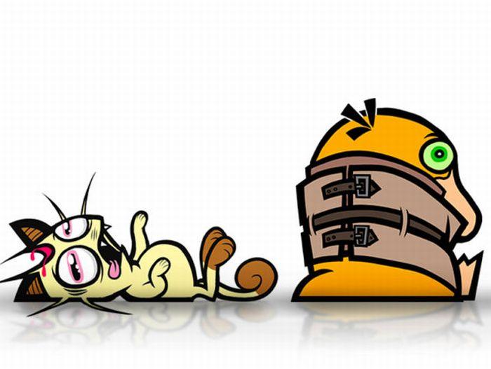 Beaten Pokemons (16 pics)