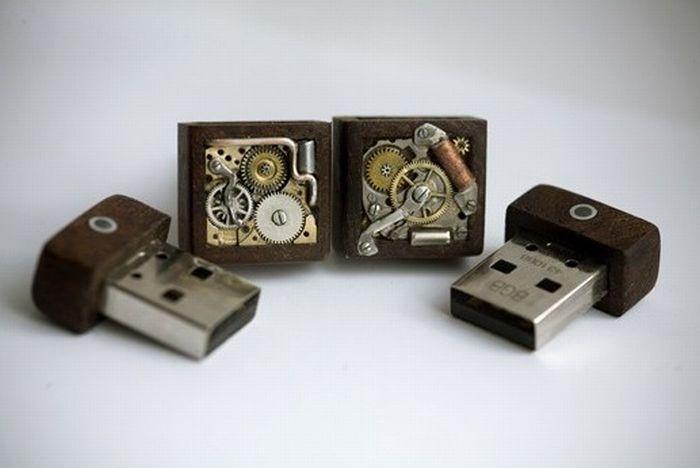 Cool Steampunk USB Cufflinks (4 pics)
