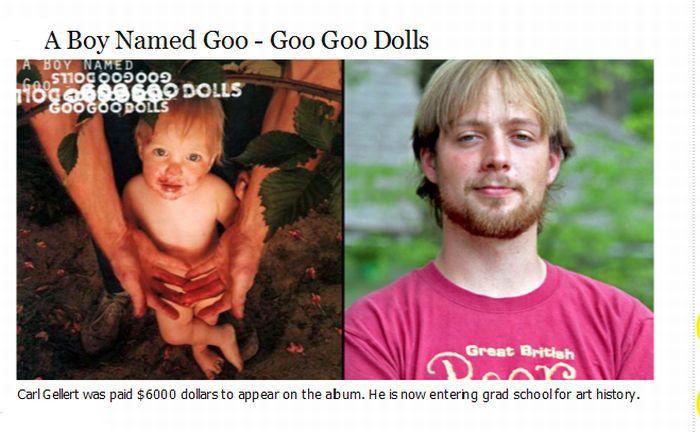Famous Album Cover Babies (9 pics)