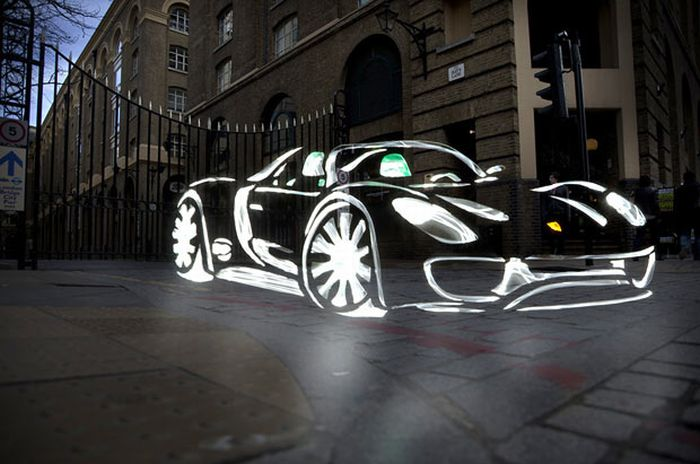 Amazing Light Graffiti in London (19 pics)