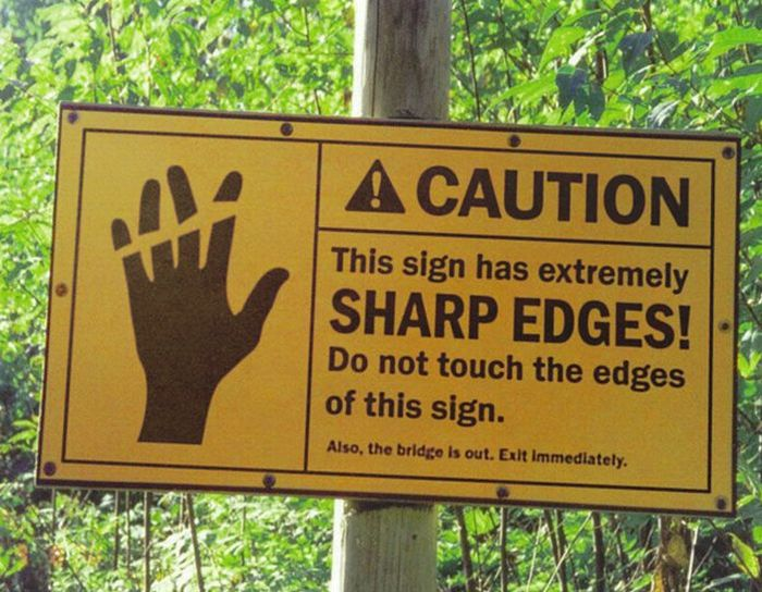 Strange and Funny Warning Signs (25 pics)