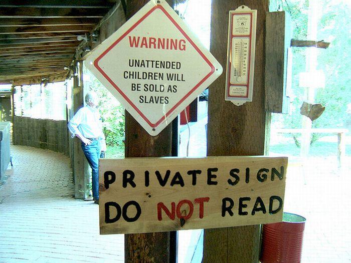 Strange and Funny Warning Signs (25 pics)