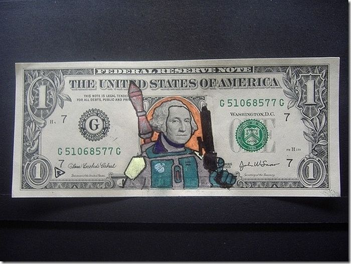 Best Examples of Defacing Money (30 pics)