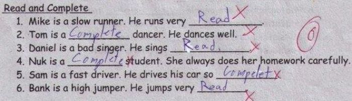 Funny Exam Answers. Part 4 (30 pics)