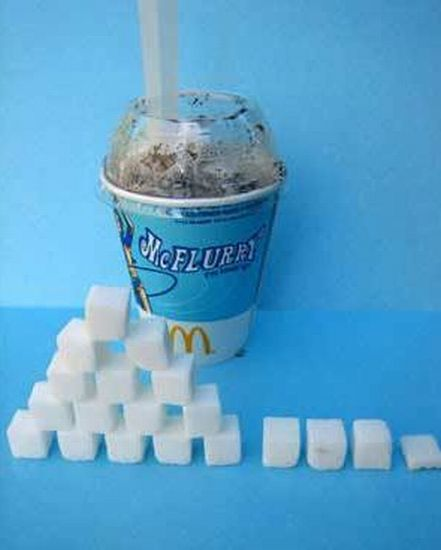 How Much Sugar Foods and Drinks Have (36 pics)
