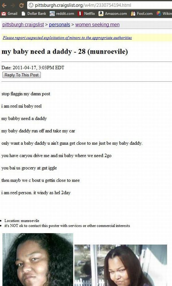 Epic Classified Ad on Craigslist (1 pic)