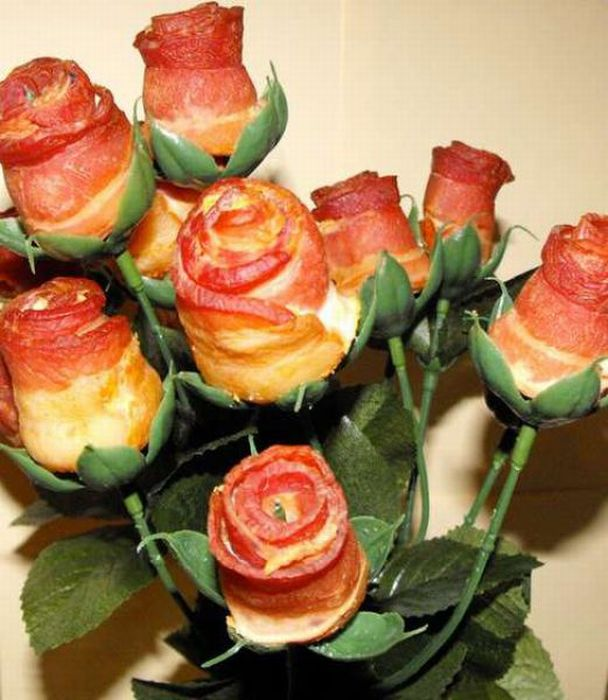 Making of Bacon Roses (21 pics)