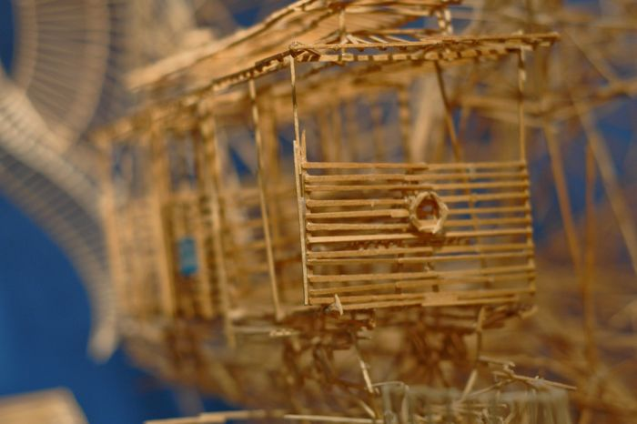 100,000 Toothpicks Sculpture (25 pics + video)