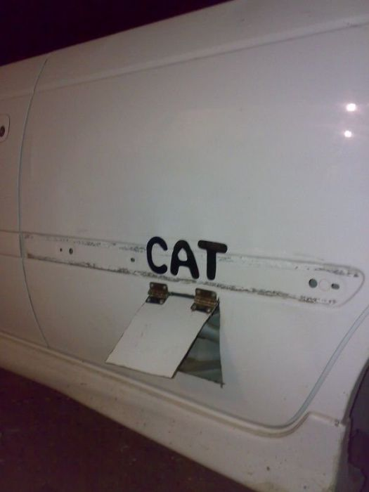 Door for Cat (4 pics)