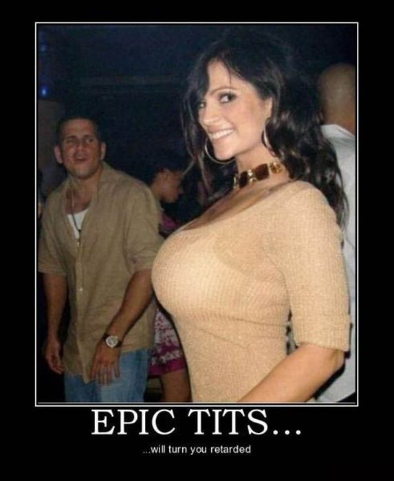 Epic Demotivational Posters About Boobs (68 pics)