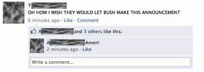 Facebook Reactions to the Death of Osama Bin Laden (40 pics)
