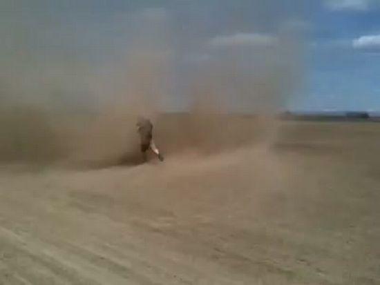 Guy Running Into Tornado