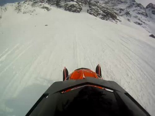 Terrible Snowmobiling Fail