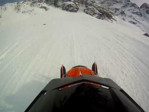 Terrible Snowmobiling Fail