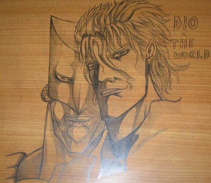 Drawings on School Desks (17 pics)