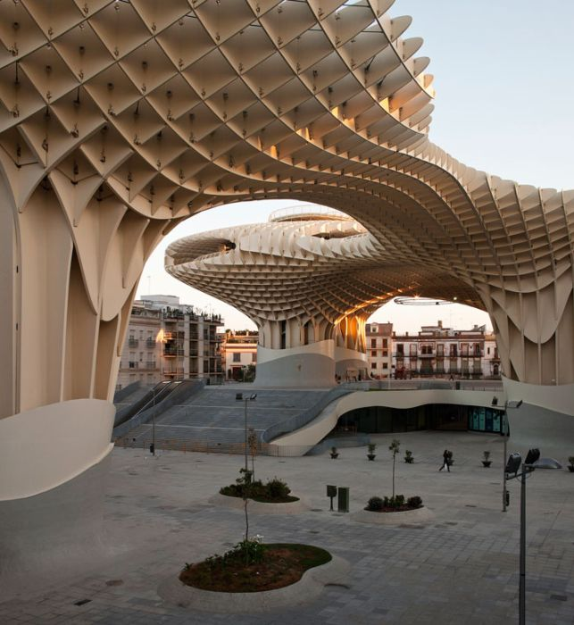 Metropol Parasol, World's Largest Wooden Structure (17 pics)