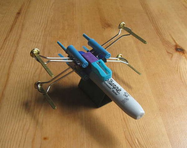 X-Wing Fighter from Office Supplies (6 pics)