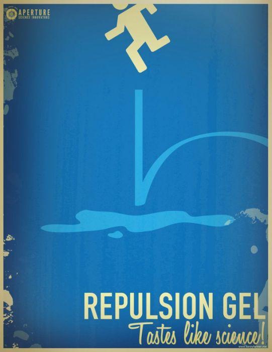 Retro Aperture Science Portal Posters (11 pics)