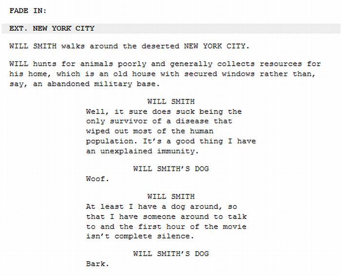 Hilarious Abridged Movie Scripts (10 pics)