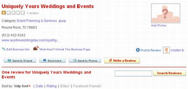 Worst Wedding Planner Ever (1 pic)