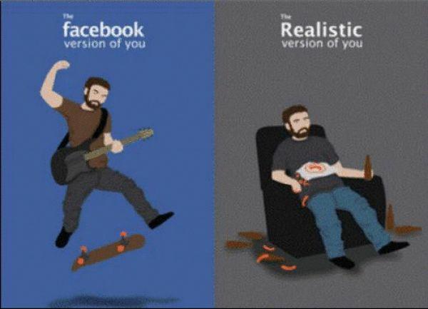 Real You vs Facebook You (1 gif)