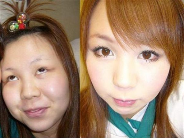 Asian Girls Before and After the Makeup (75 pics)