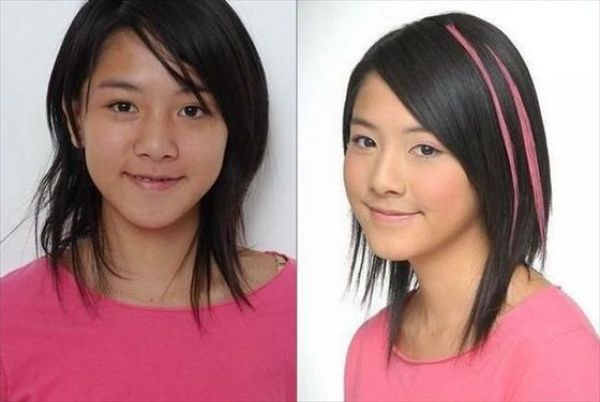 Asian Girls Before And After The Makeup 75 Pics-8023