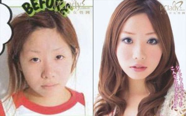 Asian Girls Before And After The Makeup 75 Pics-5535