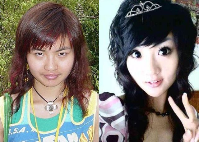 Asian Girls Before And After The Makeup 75 Pics-4951