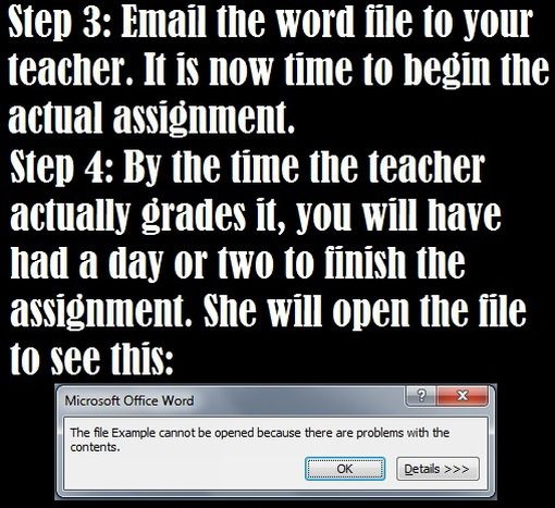 No Time To Finish That Essay? (4 pics)