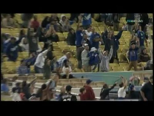 Dad Drops Daughter at Dodgers Game