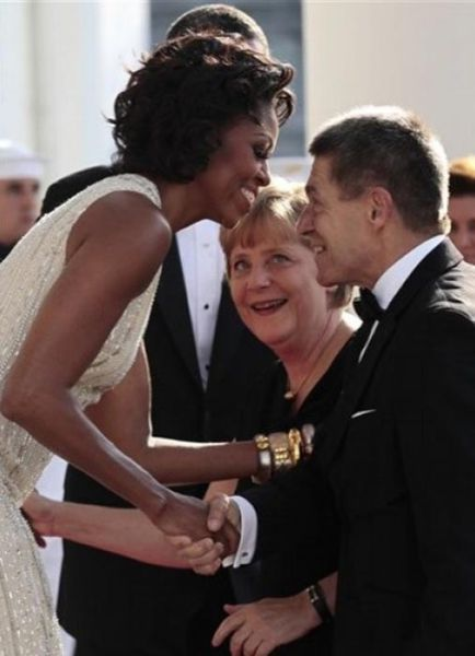 Angela Merkel Likes Michelle Obama (7 pics)