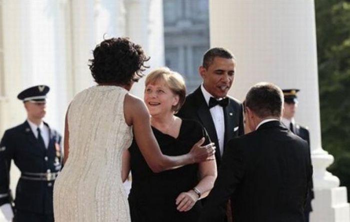 Angela Merkel Likes Michelle Obama (7 pics)