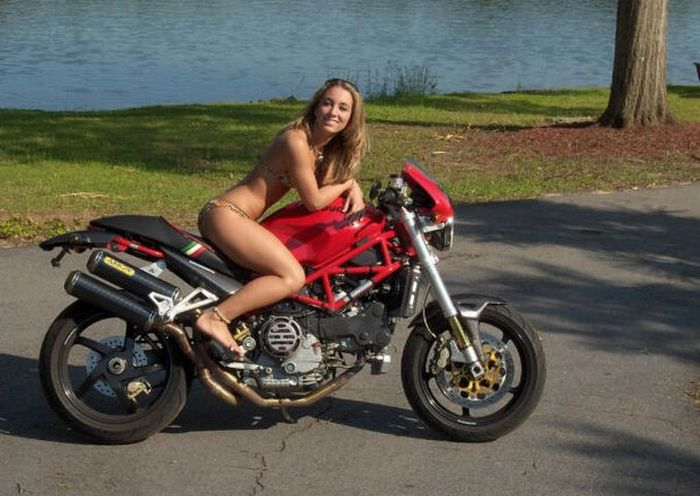 Idea girls on naked motorbike you