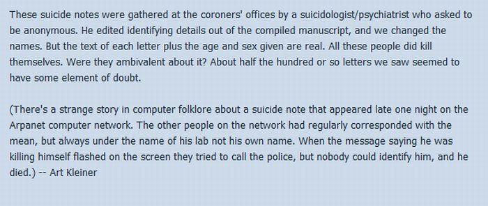 Suicide Notes (22 pics)