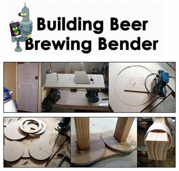 Building Beer Brewing Bender (14 pics)