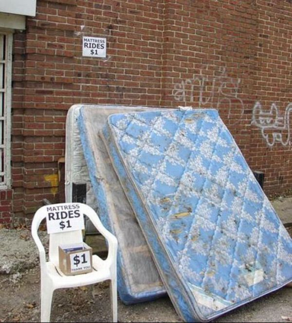 Mattress Ride (6 pics)